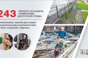 В Одинцовском районе более 240 объектов оборудовали элементами «доступной среды» в 2016 году