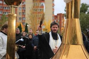 В Голицыно состоялся чин освящения купола часовни святого Преподобного Илии Муромского